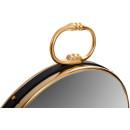 Настенное зеркало Round 425 Gold/Black 51 cm
