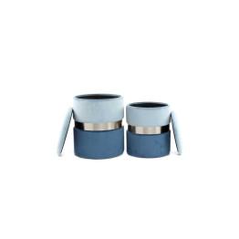 Набор пуфов Derby T125/2 Lightgrey/Blue