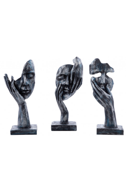 Набір скульптур Masks (3 pcs) Black/Blue