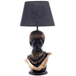 Настільна лампа African girl Black/Gold