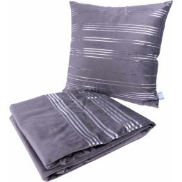 Набір подушка і плед Prisma 525 Graphit/Silver