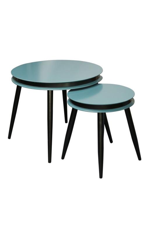 Набор столов Peel D110/2 Petrol/Black