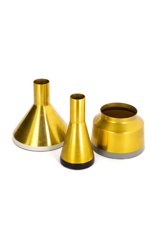 Набір ваз Tripsi M160/3 Gold/White/Black/Grey