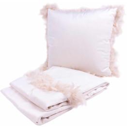 Набір подушка і плед Palmira White