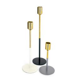 Набор подсвечников Flame M130/3 Gold/White/Black/Grey