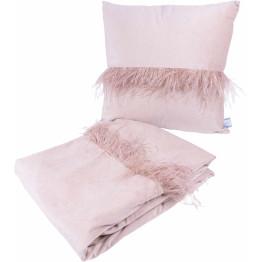 Набір подушка і плед Palmira Champagne