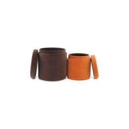 Набор пуфов Zorro T225/2 Brown/Orange