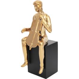 Скульптура Violin Player Gold