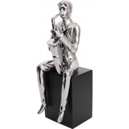 Скульптура Saxophone Player Silver