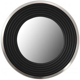 Настінне дзеркало Round 825 Silver/Black Ø 51 cm
