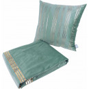Набір подушка і плед Prisma 525 Mint/Gold