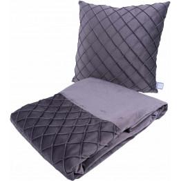 Набор подушка и плед Paulina 325 Graphit