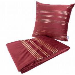 Набір подушка і плед Prisma 525 Red/Gold