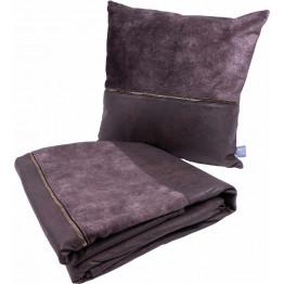 Набір подушка і плед Picco Grey/Braun