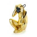 Скульптура Monkey KM210 Black/Gold