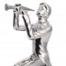 Скульптура Trombone Player Silver