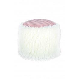 Пуф Lama T125 White / Pink