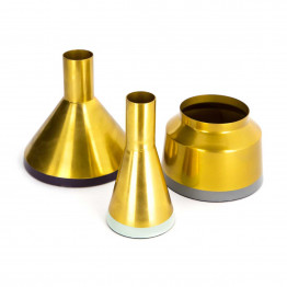 Набор ваз Tripsi M140/3 Gold/Mint/Plum/Grey