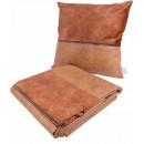 Набір подушка і плед Picco Terra/Coffee