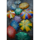 Фреска металева Umbrellas