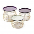 Набор столов Tristan M460/3 Purple/Plum/Lightgrey