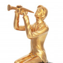 Скульптура Trombone Player Gold