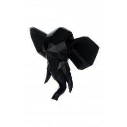 Скульптура настінна Elephant K110 Black