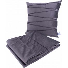 Набір подушка і плед Paulina 125 Graphit