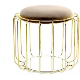 Табурет-стіл Carl SM110 Greybrown / Gold