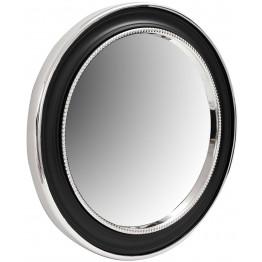 Настінне дзеркало Round 625 Silver/Black Ø 58 cm