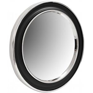 Настенное зеркало Round 625 Silver/Black Ø 58 cm