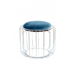 Табурет-стол Carl SM110 Petrol/Silver