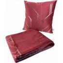 Набір подушка і плед Prisma 125 Red/Gold