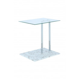 Стіл Quadro SM225 Clear/Chrom/Whitemarble