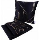 Набір подушка і плед Prisma 125 Black/Gold