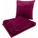 Набір подушка і плед Paulina 225 Berry