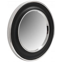 Настінне дзеркало Round 525 Silver/Black Ø 45 cm