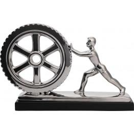 Скульптура Man&Wheel Silver