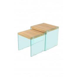 Набір столів Amer S110 / 2 Natural / Clear