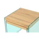 Набір столів Amer S110/2 Natural/Clear