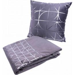 Набір подушка і плед Prisma 300 Graphit/Silver