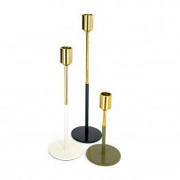 Набір підсвічників Flame M170/3 Gold/White/Green/Grey