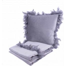 Набір подушка і плед Palmira Grey