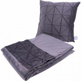Набір подушка і плед Paulina 225 Graphit
