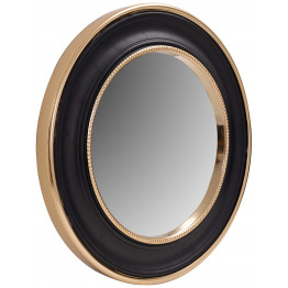 Настінне дзеркало Round 525 Gold/Black Ø 45 cm