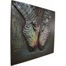 Фреска металева Zebras