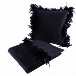 Набір подушка і плед Palmira Black