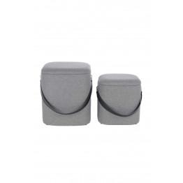 Набір пуфів Square T125/2 Grey/Black