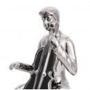Скульптура Violin Player Silver