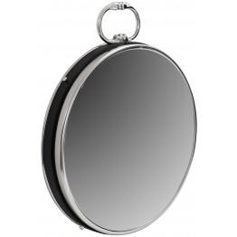 Настінне дзеркало Round 925 Silver/Black Ø 41 cm